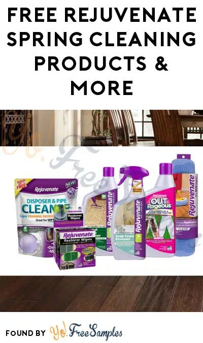 FREE Rejuvenate Spring Cleaning Products  More (Must Apply To Host - free samples of cleaning products