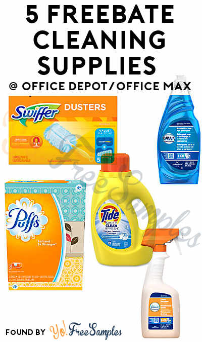 5 FREEBATE Cleaning Supplies From Office Depot/Office Max (After - free samples of cleaning products