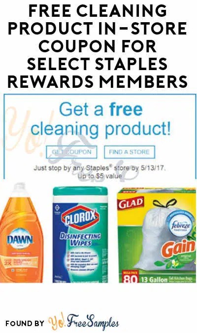 Possible FREE Cleaning Product In-Store Coupon (Select Staples