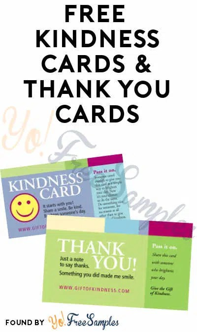 FREE Kindness Cards  Thank You Cards - Yo! Free Samples - free thank you cards