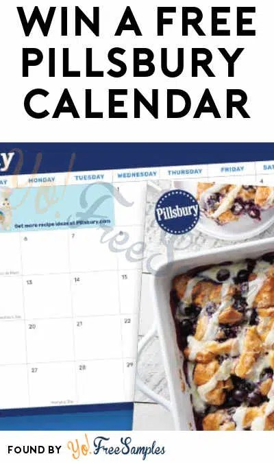 Win A FREE Pillsbury 2019 Calendar - Yo! Free Samples