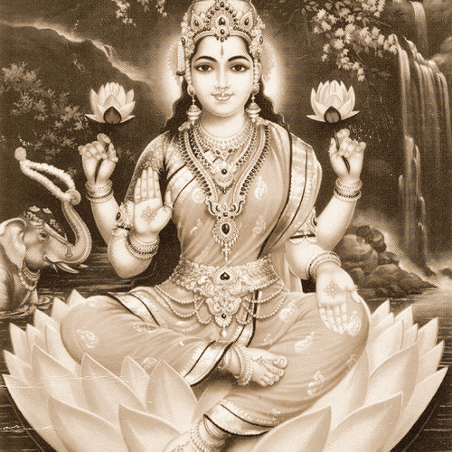Göttin Lakshmi steht für Schönheit, Reichtum & Liebe