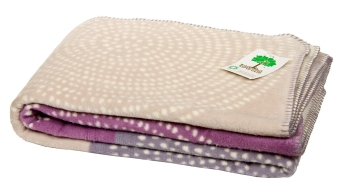 Baumwolldecke Baby Cotton Blanket Certified Organic Gots Made In Germany Natur Blue Purple Mauve 150 X 200 Cm