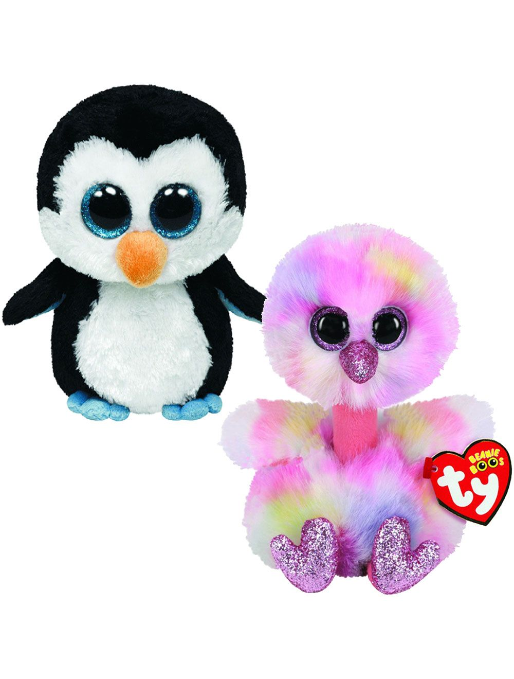Ty Beanie Boos Regular Plush Value Pack Waddles Penguin Avery Ostrich