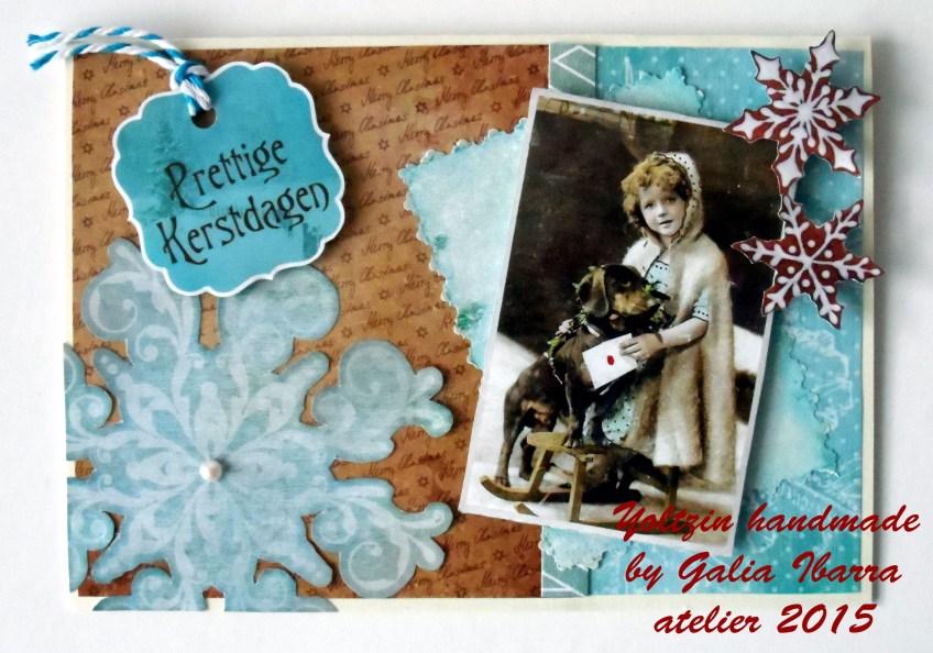 Christmas card, Tarjeta de navidad, Kerstkaartje