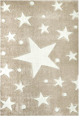 Happy Rugs Teppiche Kinderteppich Stars Sand Weiss Beige Happy Rugs Yomonda