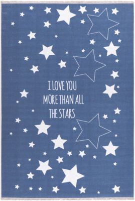 Happy Rugs Teppiche Kinderteppich Love You Stars In Outdoor Blau Happy
