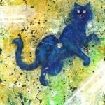 青猫と人のジッパー