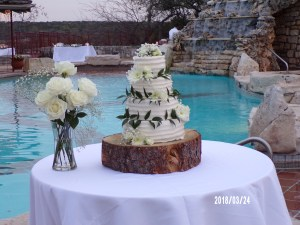 Wedding at the pool