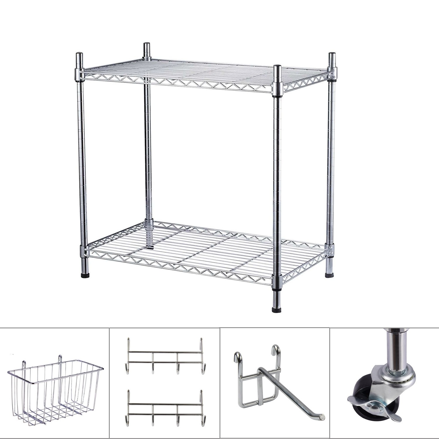 Küchenregal Metall Ø19mm 60 X 35 X 60cm Yorbay Standregal Set Aus Verchromten Metall