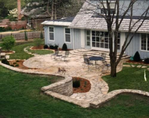 Medium Of Backyard Living Area