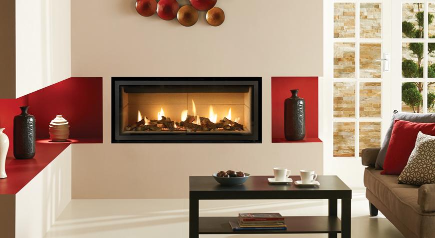 Gazco Studio Edge Hole In Wall Gas Fire York Fireplaces