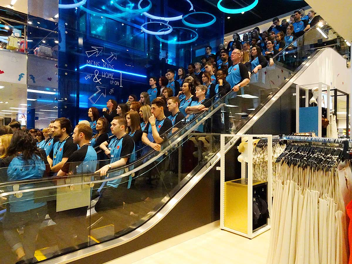 Primark Evry Video And Pix Primark Opens At York Monks Cross To The