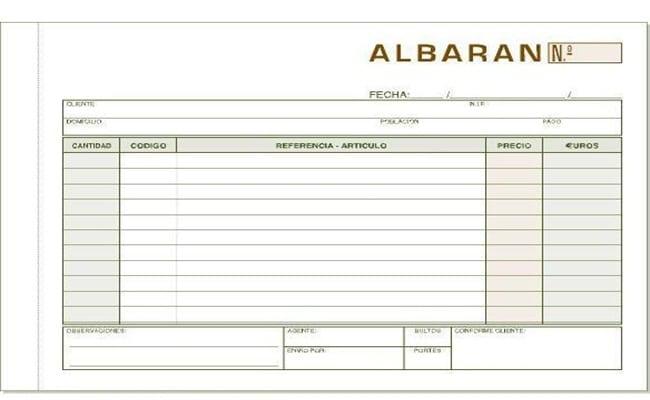 ▷ ¿Qué es un Albarán? Tipos, formatos y ejemplos