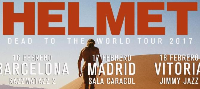 HELMET en febrero en Barcelona, Madrid y Vitoria.