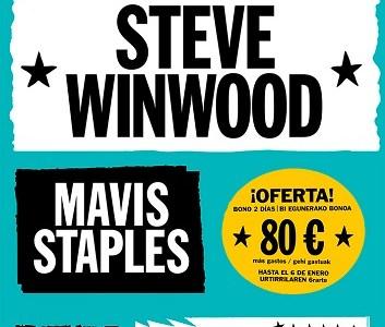 STEVE WINWOOD y MAVIS STAPLES primeros confirmados en el BBK MUSIC LEGENDS FESTIVAL