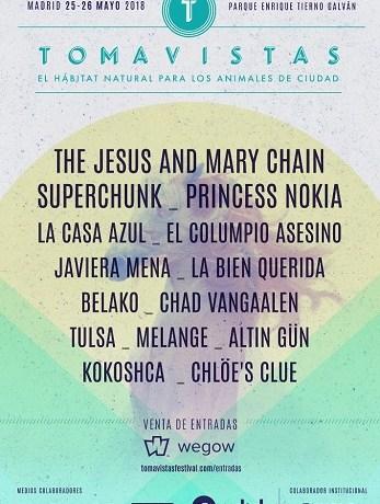 NUEVAS CONFIRMACIONES DEL TOMAVISTAS FEST 2018