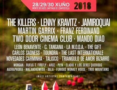 The Killers, Lenny Kravitz y Jamiroquai encabezan el cartel del Festival O SON DO CAMIÑO