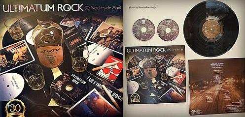 """Sorteamos 5 CD´S de ULTIMATÚM ROCK – 30 Noches de Abril, """"Álbum 30 Aniversario""""."""