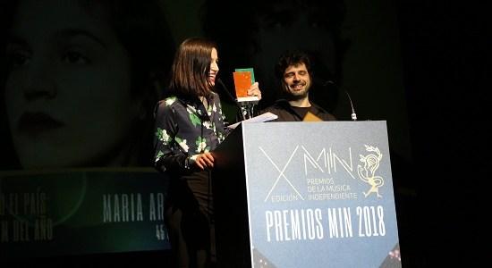 Premios MIN 2018 María Arnal i Marcel Bagés y Belako, los grandes triunfadores.