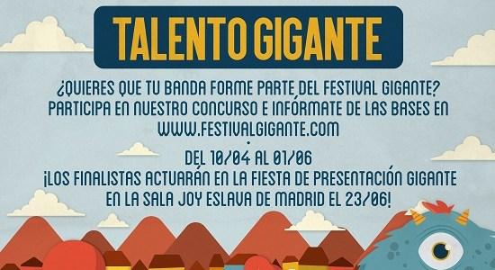Coca-Cola presenta: Talento GIGANTE. ¿Quieres que tu banda forme parte del Festival GIGANTE?