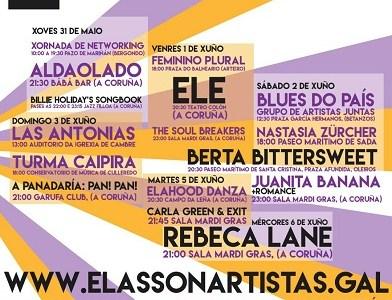 ELAS SON ARTÍSTAS, 1º Festival Metropolitano de Música y Artes por la Igualdad.