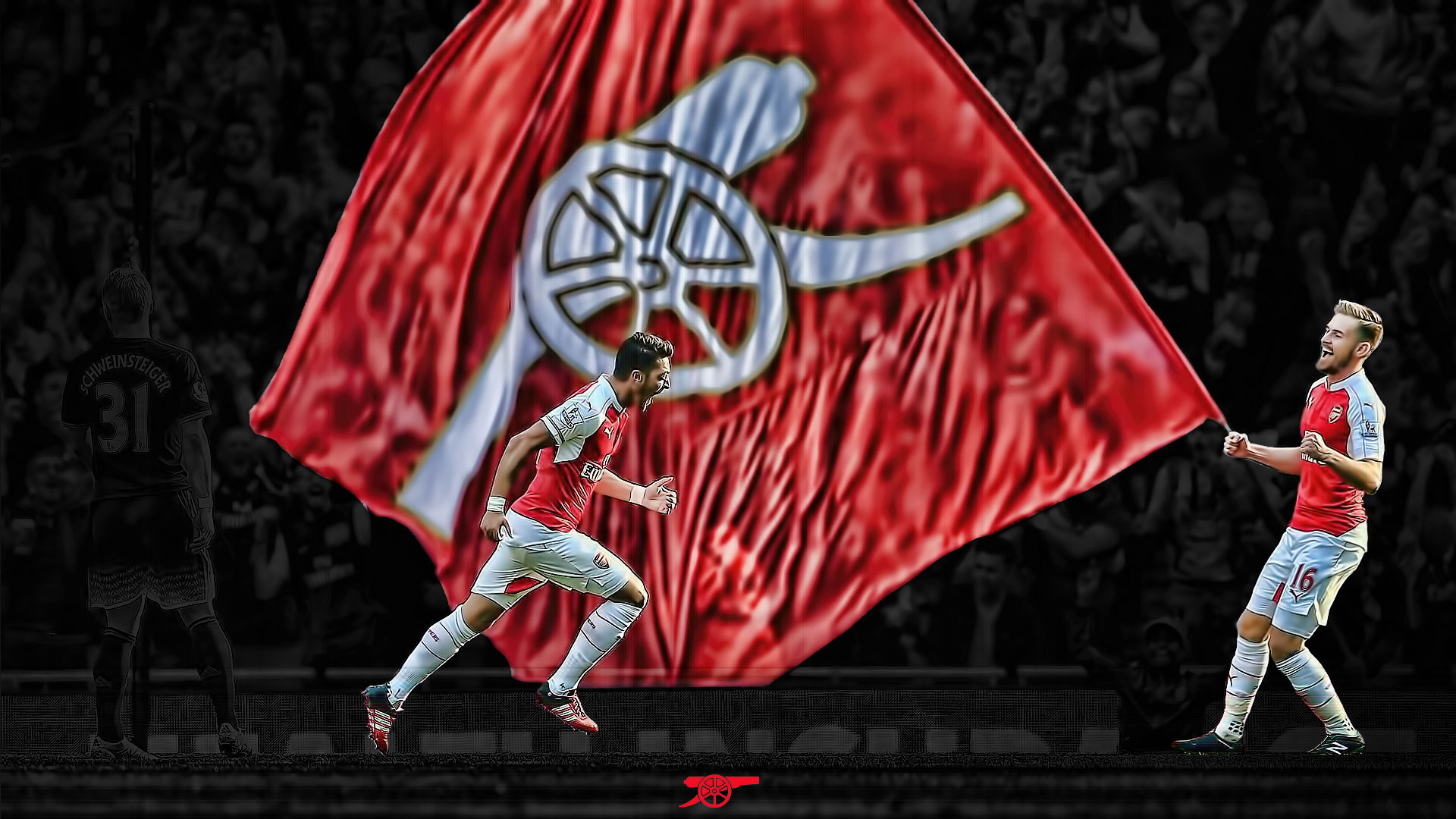 Mesut Ozil Wallpapers Hd Arsenal Arsenal Flag Desktop Background You Are My Arsenal