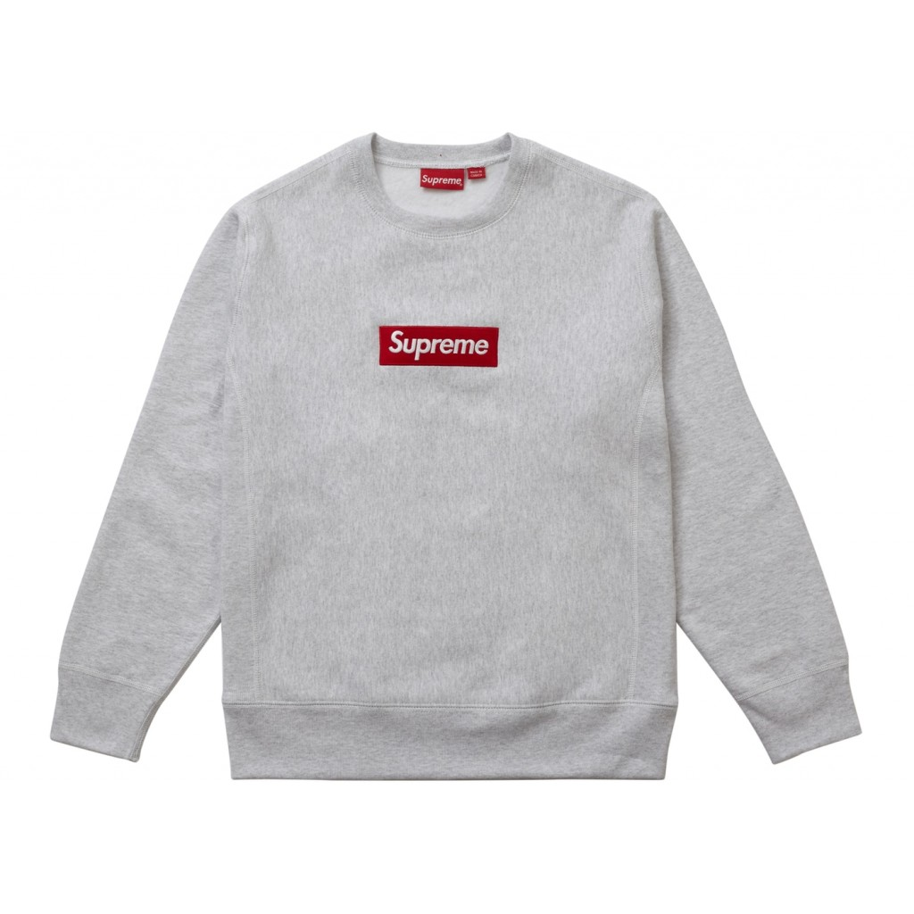 Supreme Sweater Supreme Box Logo Crewneck Grey Sweater By Youbetterfly