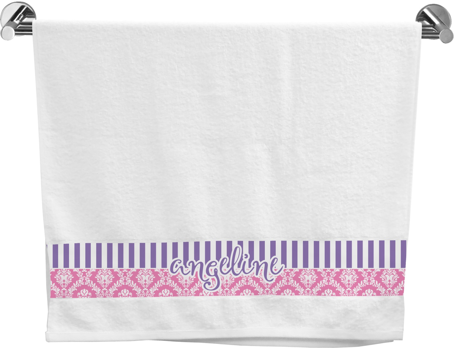 Pink Towels Pink And Purple Damask Bath Towel Personalized