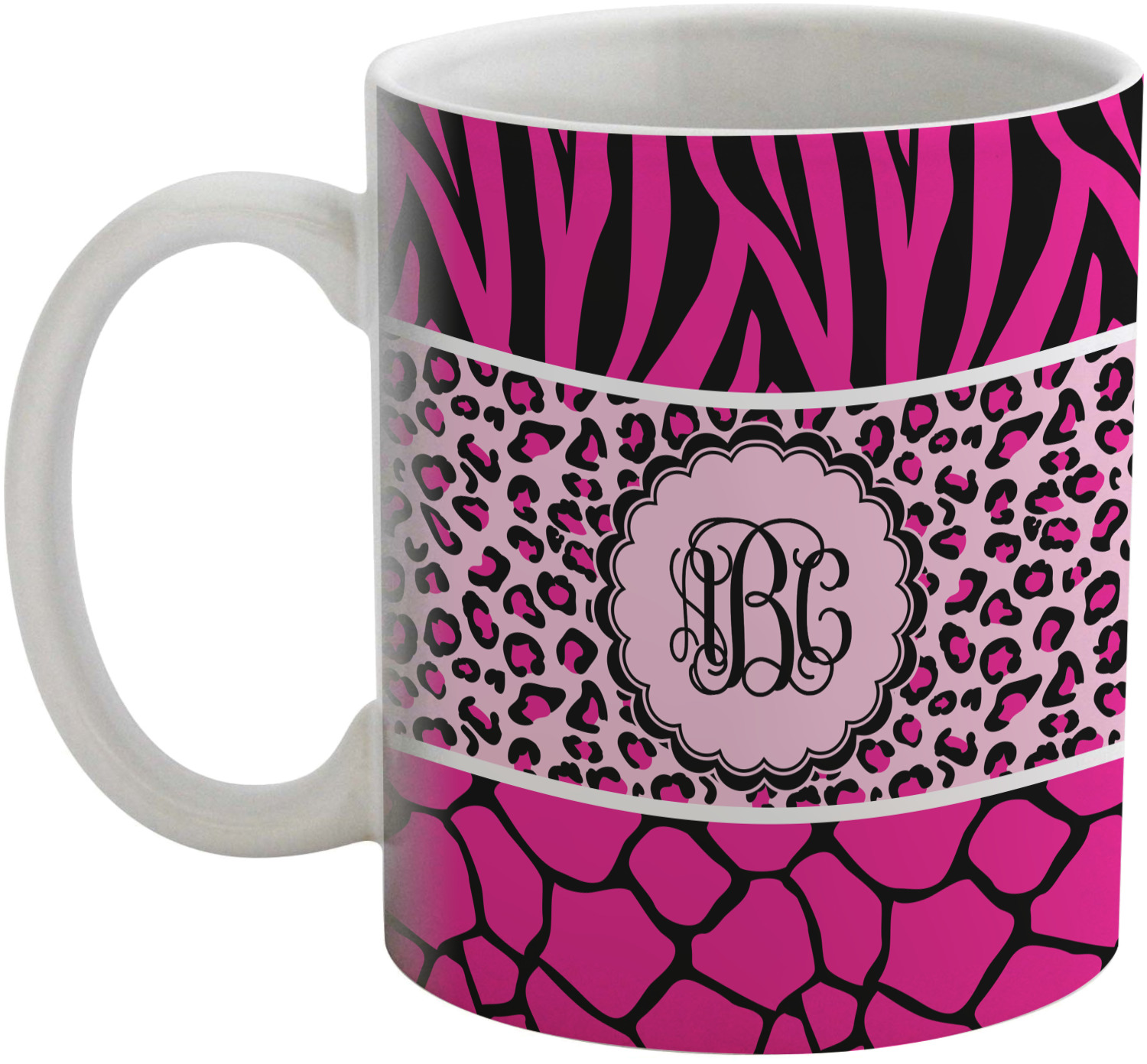 Animal Coffee Mug Triple Animal Print Coffee Mug Personalized Youcustomizeit