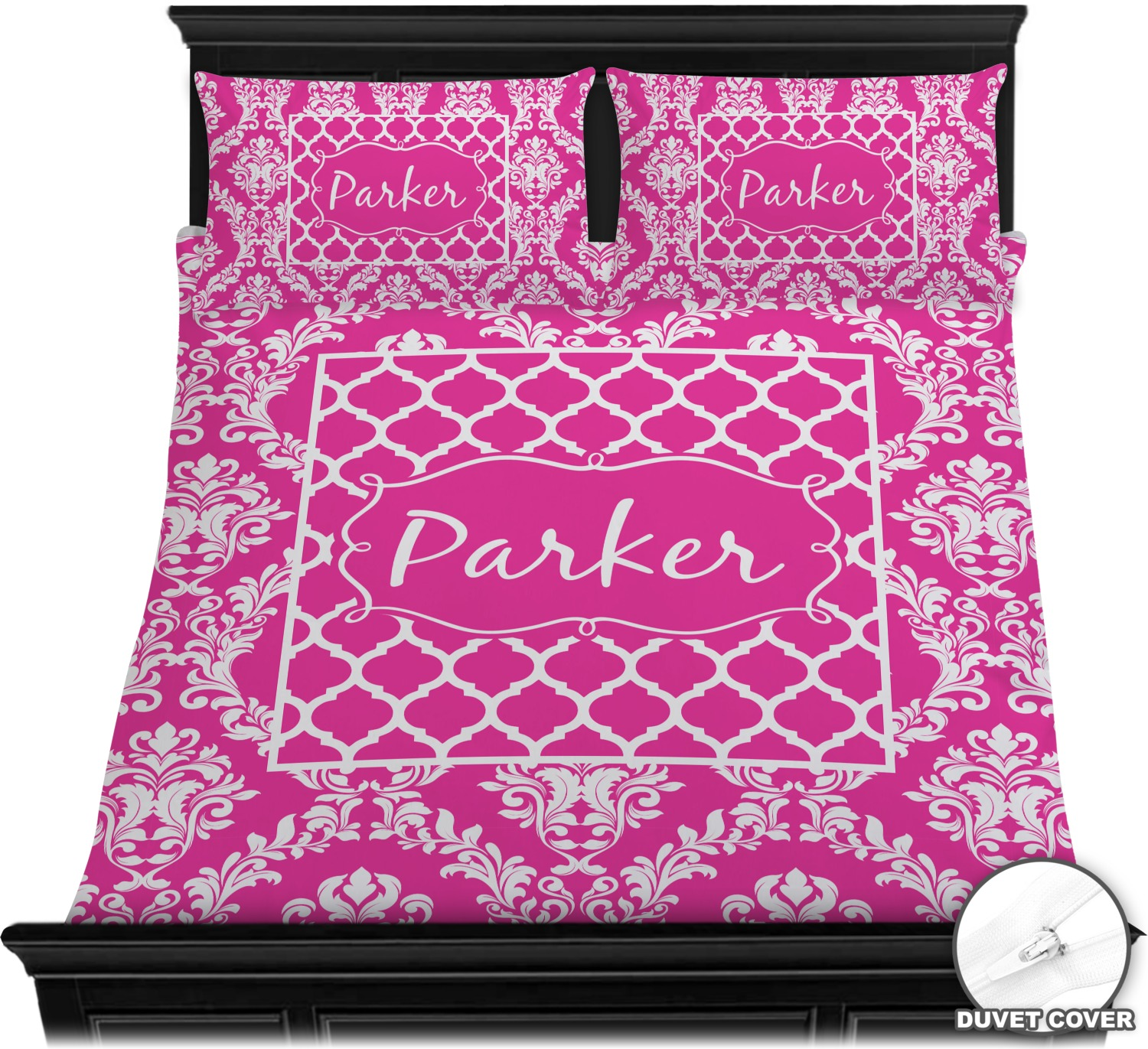 Damask Duvet Moroccan Damask Duvet Cover Set Personalized