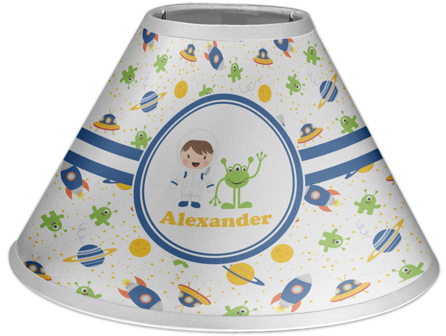 Space Themed Lamp Boy 39s Space Themed Coolie Lamp Shade Personalized