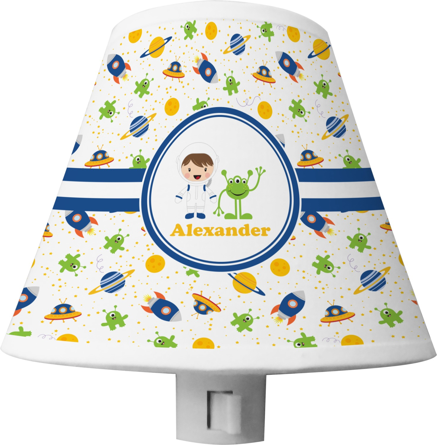 Space Themed Lamp Boy 39s Space Themed Shade Night Light Personalized