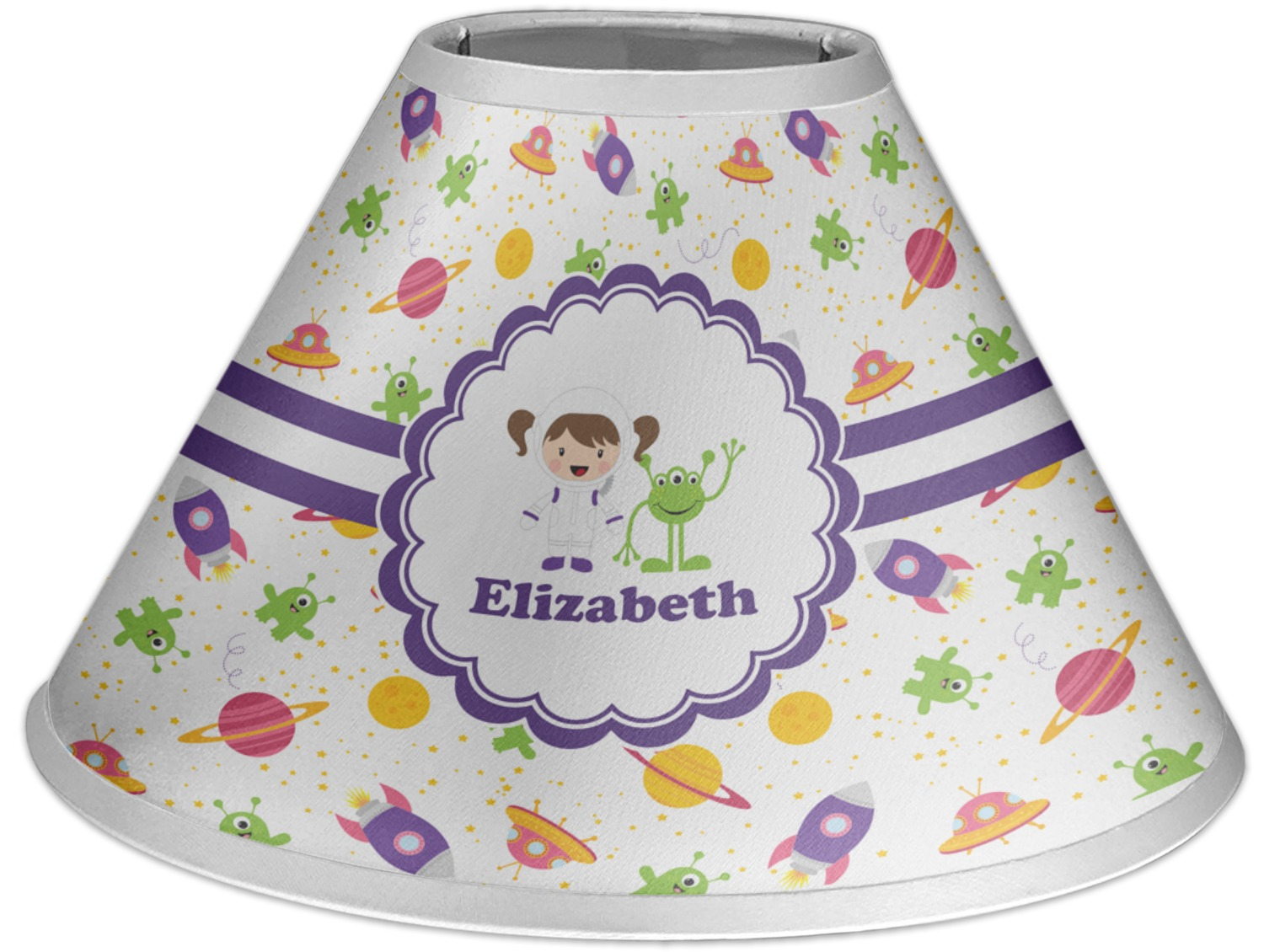 Space Themed Lamp Girls Space Themed Coolie Lamp Shade Personalized