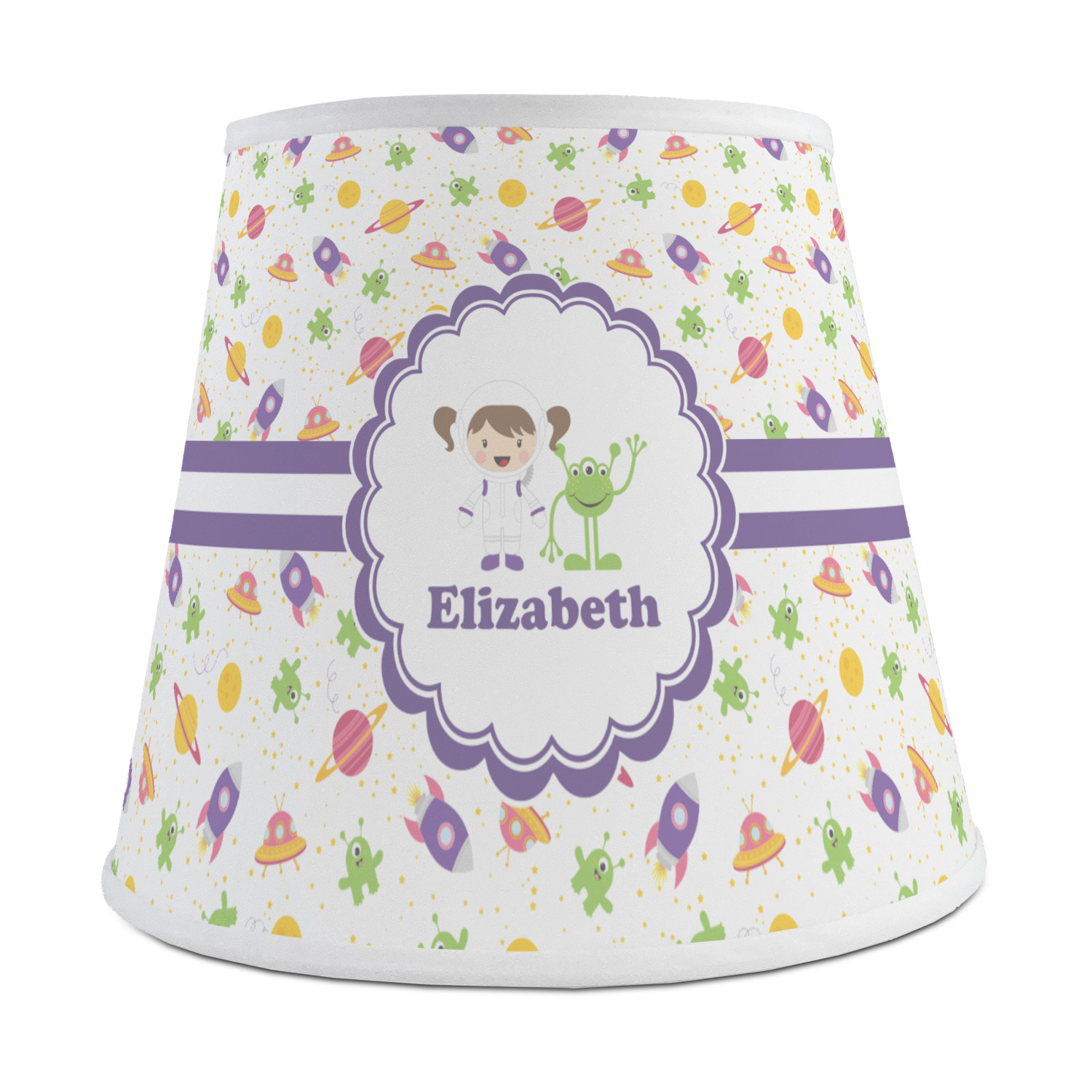 Space Themed Lamp Girls Space Themed Empire Lamp Shade Personalized