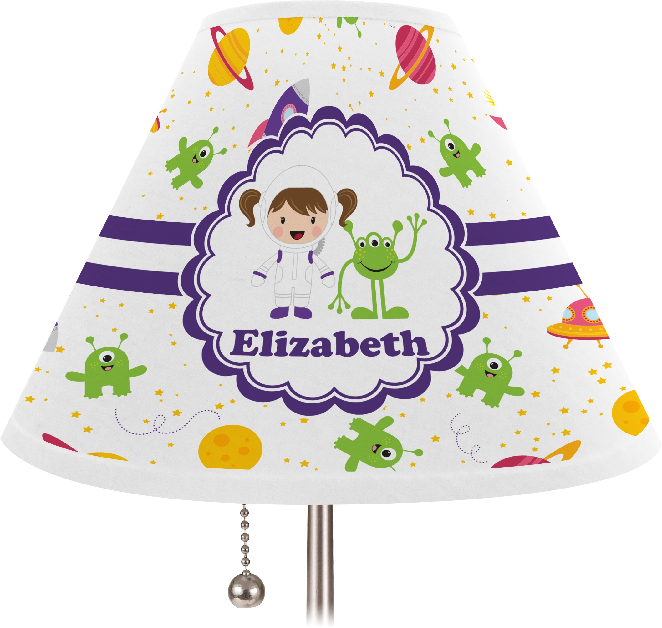 Space Themed Lamp Girls Space Themed Lamp Shade Large Personalized You