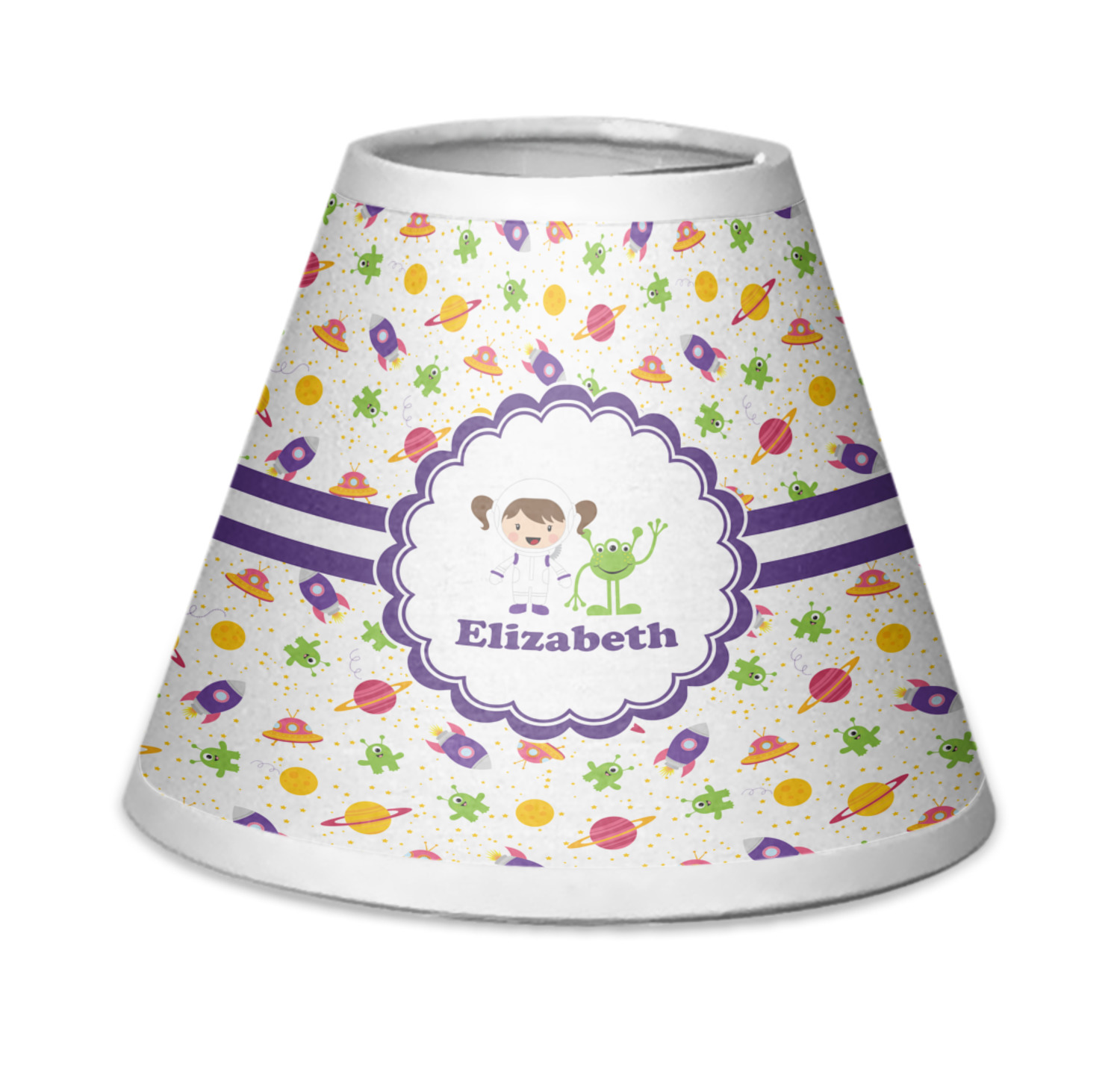 Space Themed Lamp Girls Space Themed Chandelier Lamp Shade Personalized