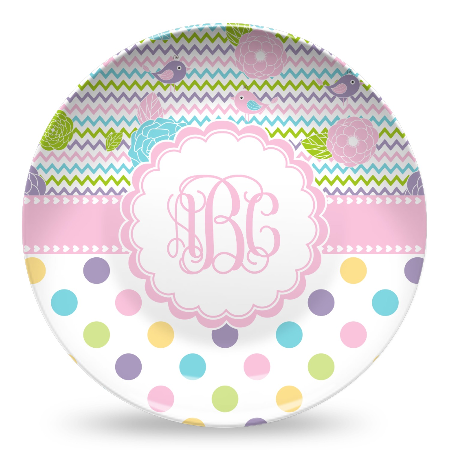 Microwave Plate Girly Girl Microwave Safe Plastic Plate Composite Polymer Personalized