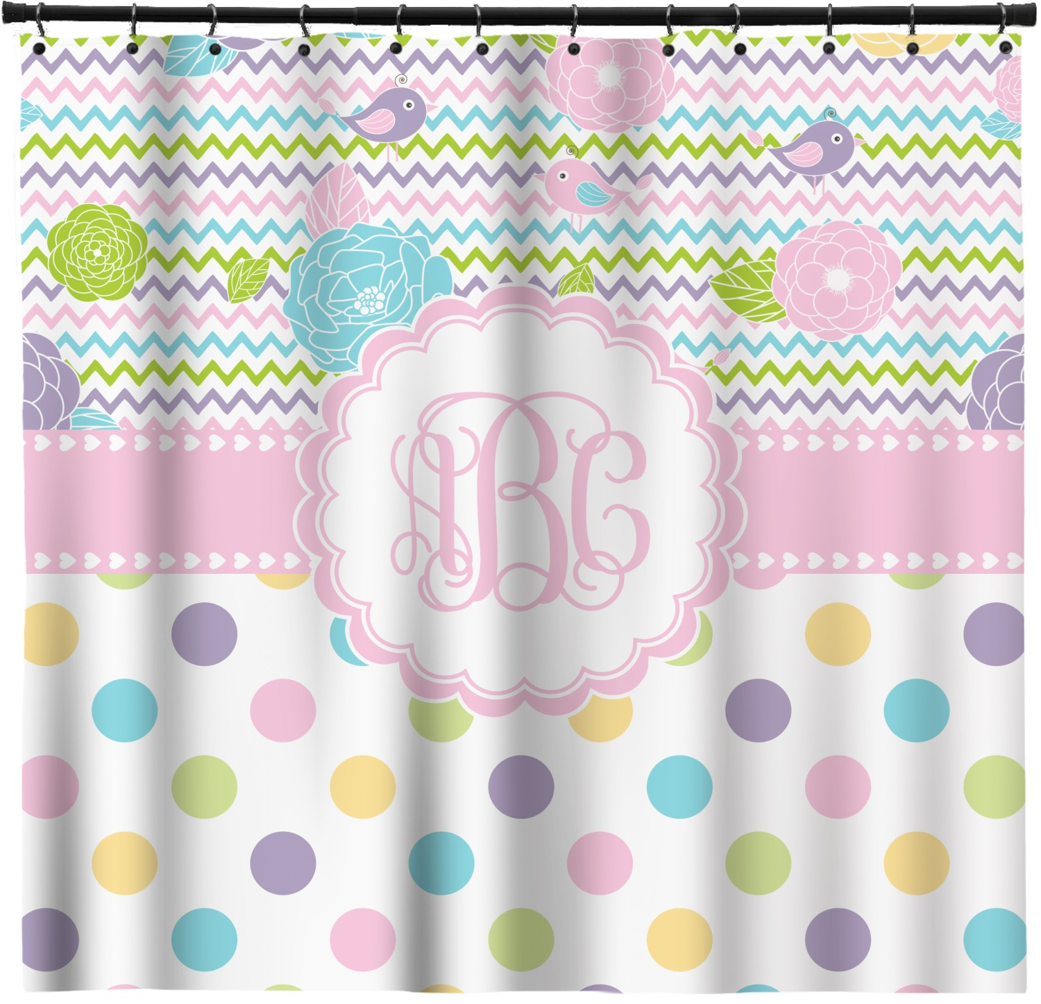 Cute Girly Shower Curtains Girly Girl Shower Curtain Personalized