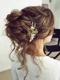Wedding Hair With Flowers & jewels : Half-updo, Braids ...