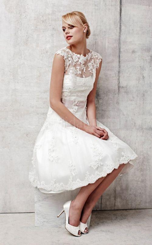 Medium Of Short Sleeve Wedding Dress