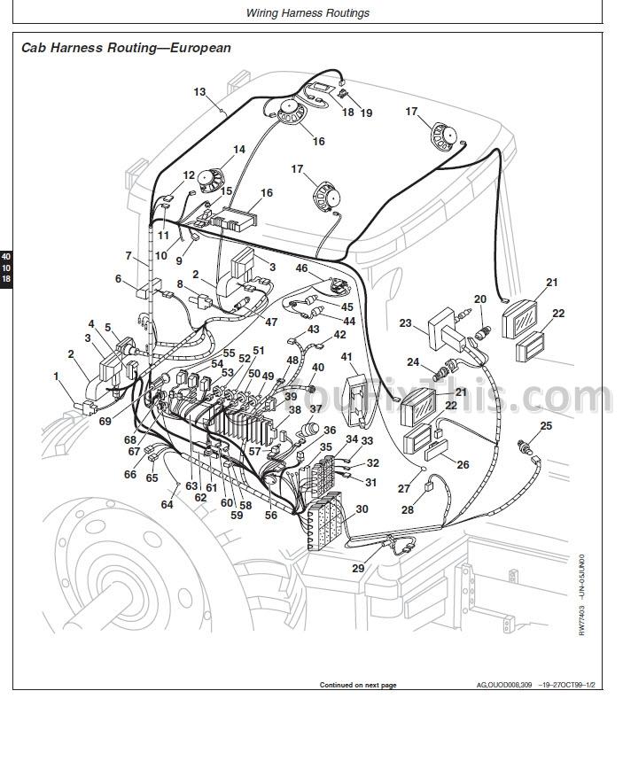 John Deere 8100 8200 8300 8400 8110 8210 8310 Repair Manual Tractor