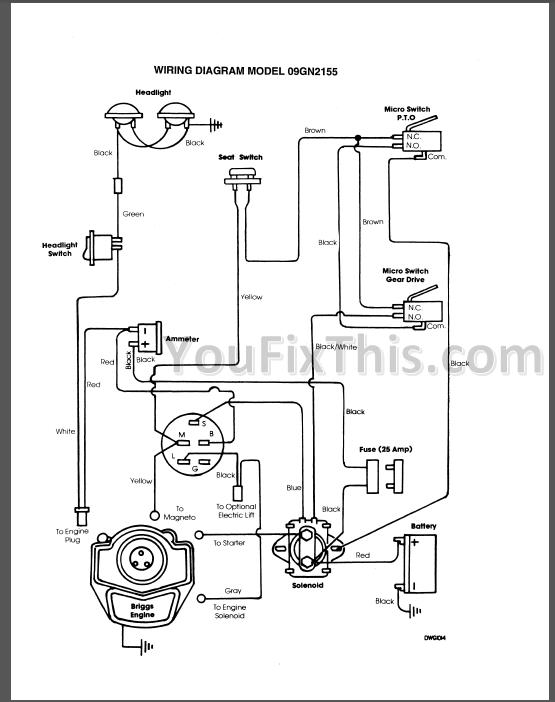 basic garden tractor wiring