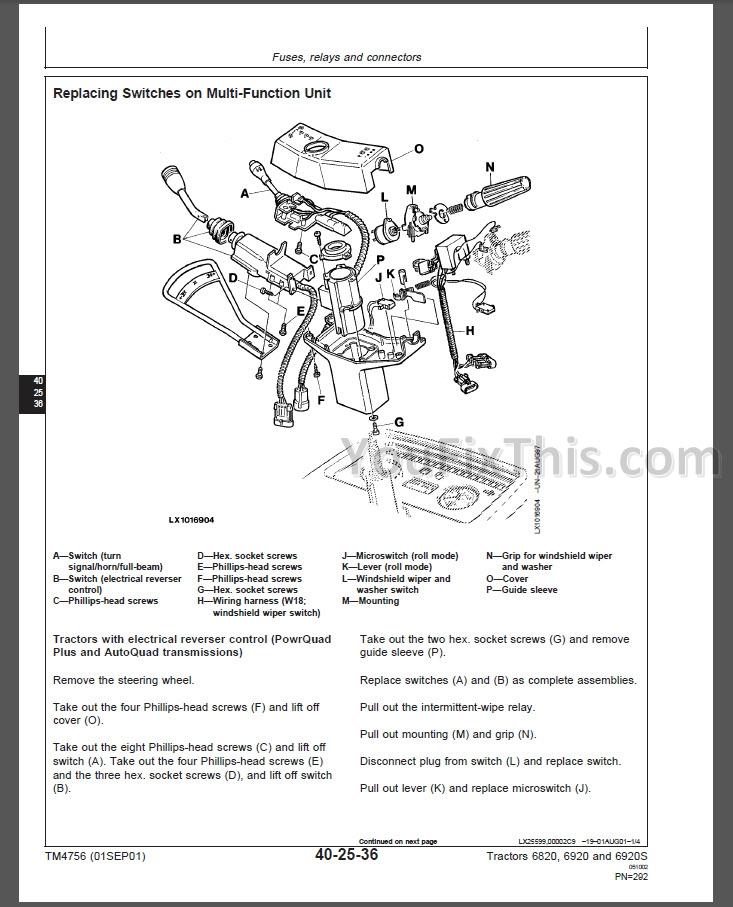John Deere 6820 6920 6920S Repair Manual Tractor « YouFixThis