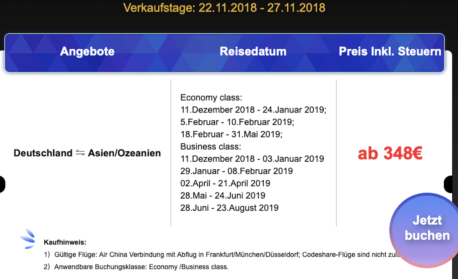 Black Friday Munchen Der Air China Business Sale Zum Black Friday You Have Been Upgraded