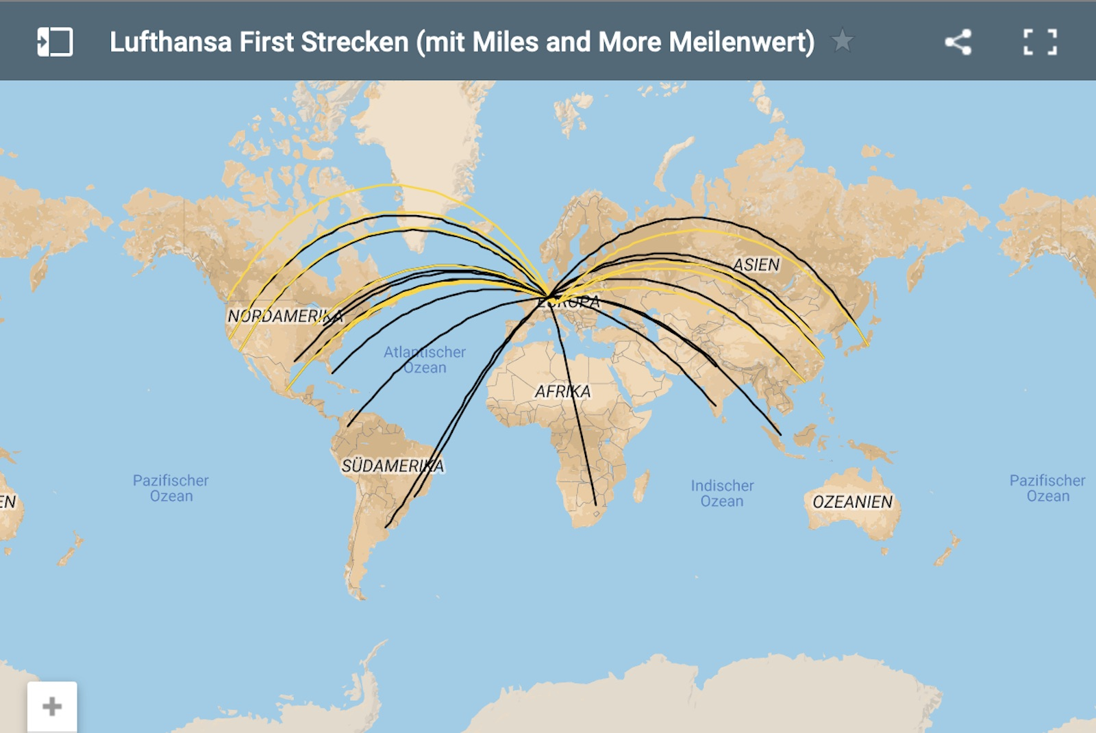 Miles And More Questions Karte Alle Lufthansa First Strecken Im Sommerflugplan You Have