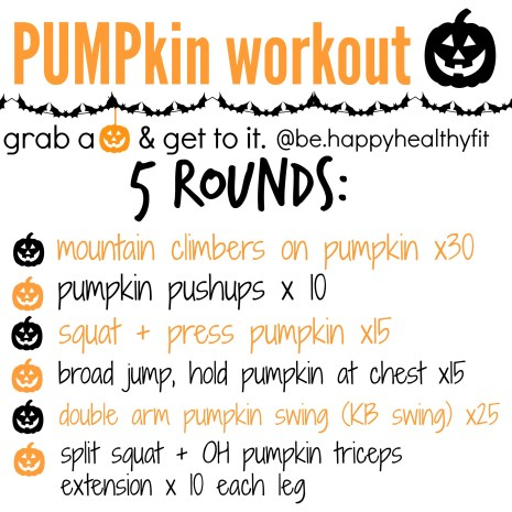 pumpkin workout