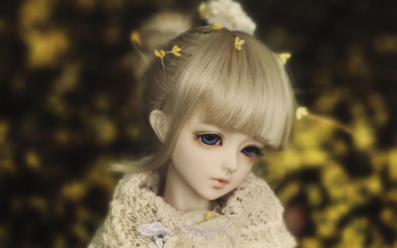 Cute sad dolls