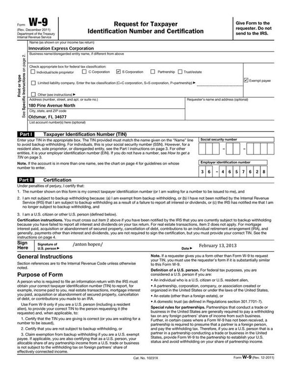 Best W-9 Form Template Photos \u003e\u003e Top 20 W 9 Form Templates Free To - w-9 template
