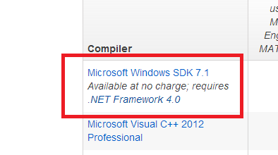 Matlab compiler problem, if you have trouble after the installation of Microsoft Windows SDK 7.1